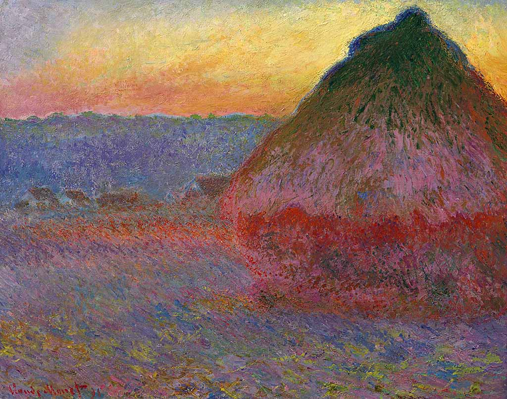 Meules 1890 painting by Claude Monet