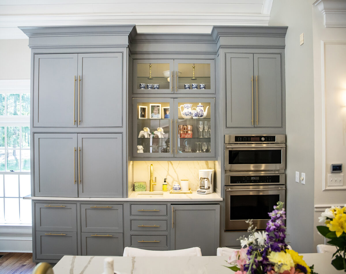 grey woodwork cabinetry and storage