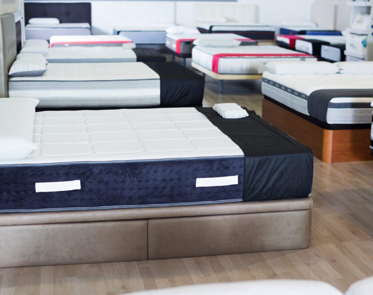 mattresses in a store