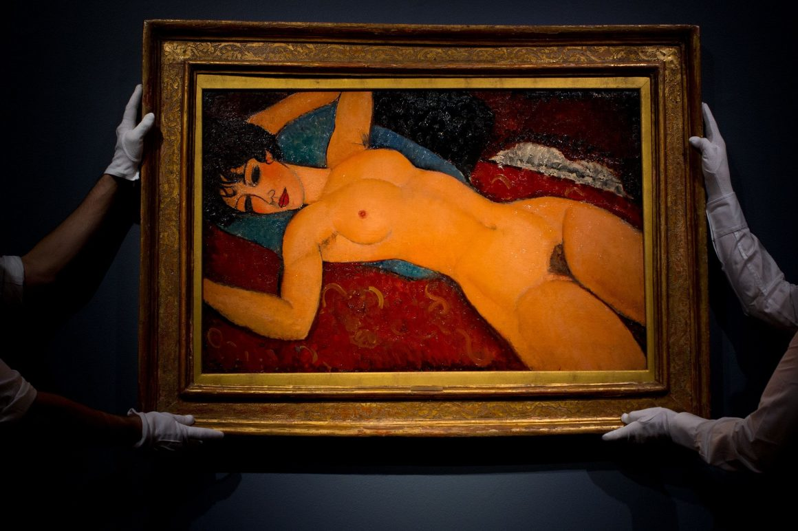 Reclining Nude painting by Amedeo Modigliani