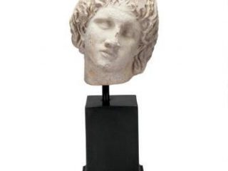Alexander the Great Sculptural Bust on Museum Mount