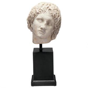 Alexander the Great Sculptural Bust on Museum Mount