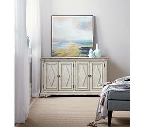 Hooker Furniture Four Door Cabinet in White