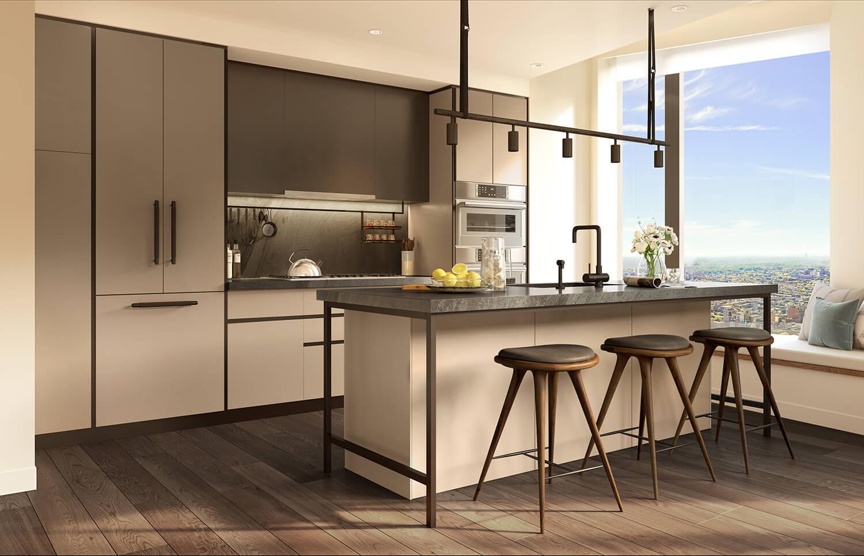 beautiful modern kitchens at 11 Hoyt, Brooklyn