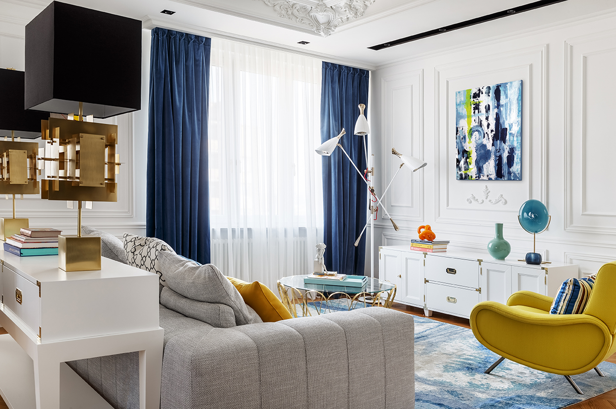 Oksana Salberg–Vachnadze Modern Apartment with a French Allure