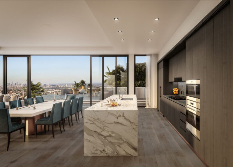 Pendry West Hollywood Residence kitchen
