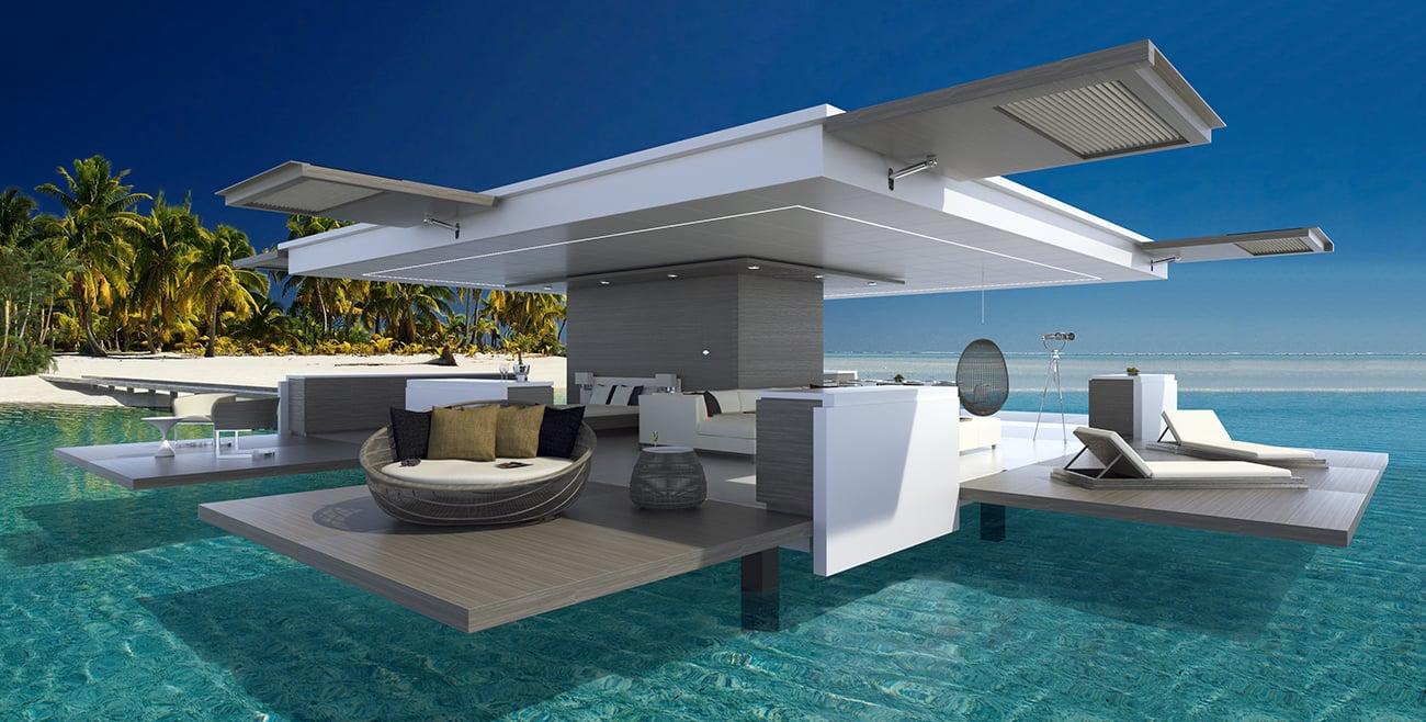 Umbrella House design by interior & yacht designer, Luis De Basto