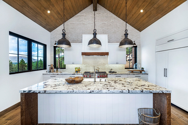 Beautiful modern kitchens at Clear Creek Tahoe