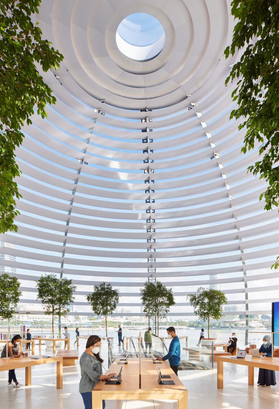 Apple NSO Marina Bay Sands oculus, Singapore