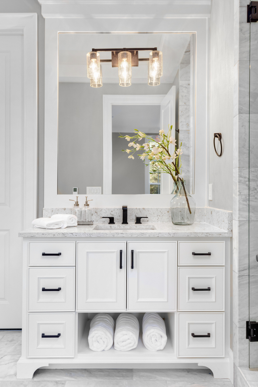 bathroom remodeling ideas with extra cabinets